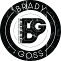 Brady Goss logo black white weathered