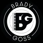 Brady Goss logo black white weathered
